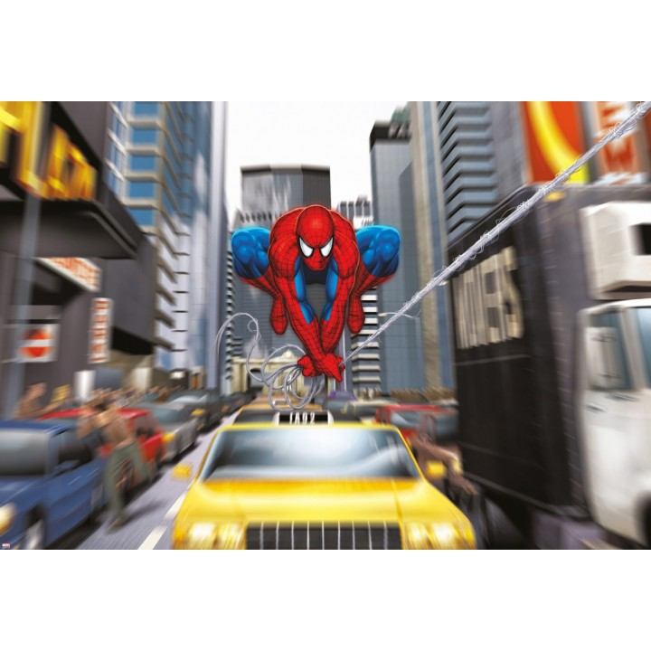 Mural Papel de Parede Spider-Man Rush Hour da Marvel