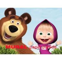Painel Masha e Urso para Festas de Aniversário