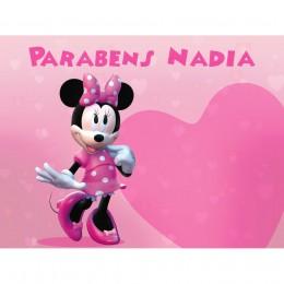 Painel Minnie Rosa para Festas de Aniversário