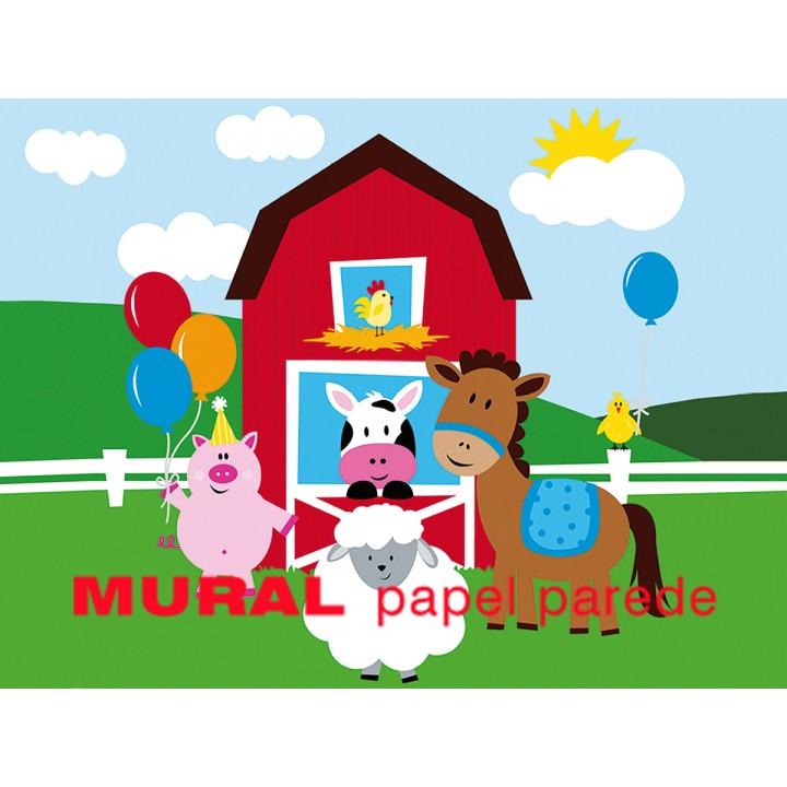 Os Animais da Quinta Painel para Festas de Aniversário
