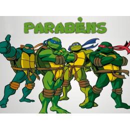 Painel Tartarugas Ninja para Festas de Aniversário