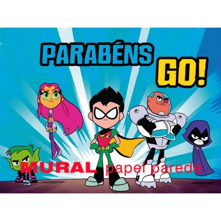 Teen Titans Go Painel para Festas de Aniversário