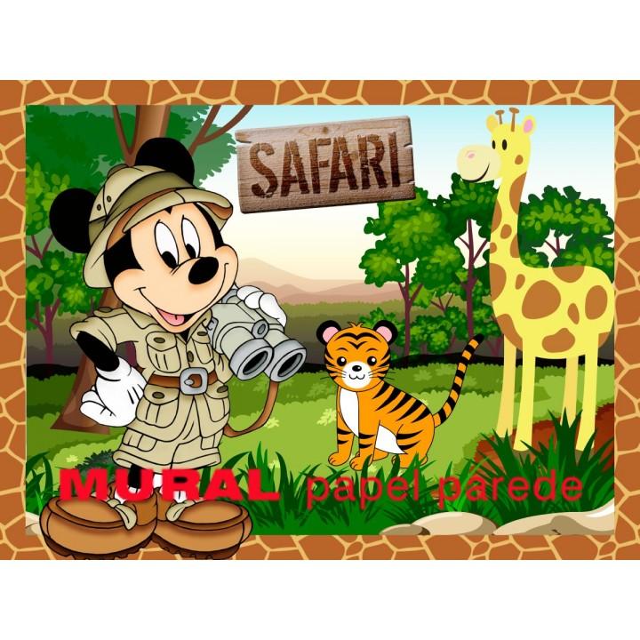 Painel Mickey Safari para Festas de Aniversário