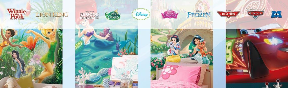 Papel de parede com imagens da Disney
