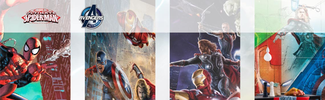 Papel de parede com imagens da Marvel