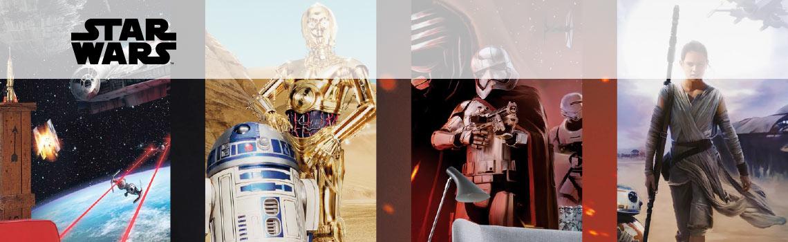 Papel de parede com imagens da Star Wars