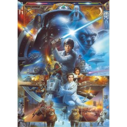 Mural Papel de Parede Star Wars Luke Skywalker Collage