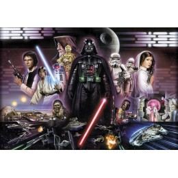 Mural Papel de Parede Star Wars Darth Vader Collage