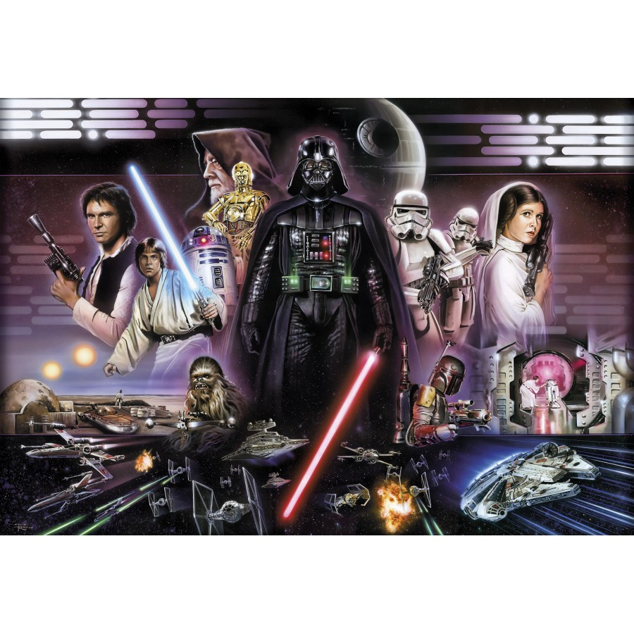 Mural papel de parede star wars darth vader collage for Mural star wars