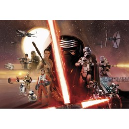 Papel de Parede Star Wars EP7 Collage