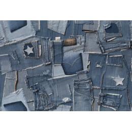 Mural Papel de Parede Textura Jeans