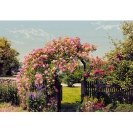 Mural Papel de Parede Rose Garden
