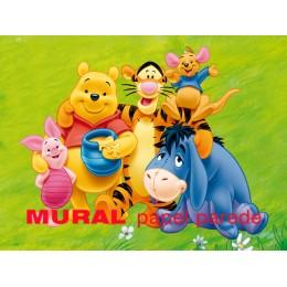 Winnie the Pooh Painel para Festas de Aniversário